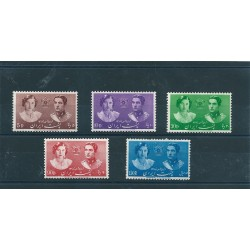 1939 IRAN - PERSIA MATRIMONIO REALE  5 VAL MNH MF18139