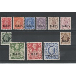 1943-47 MEF DEFINITIVA  GEORGE VI SASS 6-16 - 11V MNH  MF18184