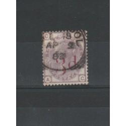 1883 GRAN BRETAGNA GB UK REGINA VITTORIA 3 D su 3P UNIF N 74 USATO MF18194