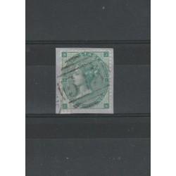 1862 GRAN BRETAGNA GB UK REGINA VITTORIA 1 S  - UNIF N 24 USATO MF18196