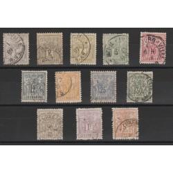 1882-89 LUSSEMBURGO GRUPPO ALLEGORICO  12 VAL USATI MF18200