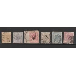 1865-75 LUSSEMBURGO  STEMMA PERFORAZIONE TRATTINI  6 VAL USATI UNIF N 16-21 MF18208