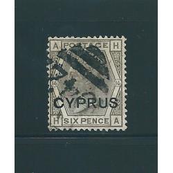 1880 CIPRO CYPRUS 6 PENCE...