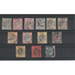 TRANSVAAL 1904/9 EDWARD VII   EFFIGIE  13 VAL USATI  YVERT  N 164-76 MF18229