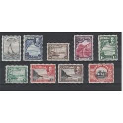 BERMUDA 1936  GEORGE V DEFINITIVA  9 VAL  MLH  YVERT 92-100 MF18233