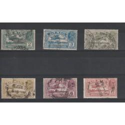 INDIA NGLESE 1929 GEORGE V AIR MAIL POSTA AEREA  6 V USATI MF18243