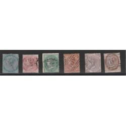 JAMAICA 1860-63 VICTORIA FIL ANANAS  YVERT N 1-6  SEI   VAL USATI MF18255