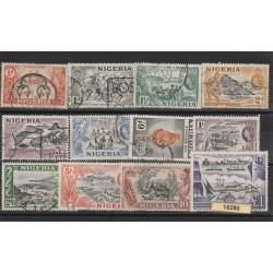 NIGERIA 1953 DEFINITIVA ELISABETTA II   YV 76-87 -  11 V USATIMF18280