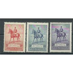 AUSTRALIA 1935 SILVER JUBILEE GEORGE V GIUBILEO  3 VAL  MLH MF24160