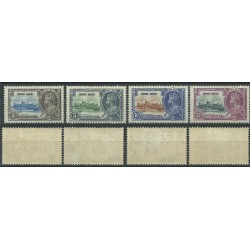HONG KONG 1935 SILVER JUBILEE GEORGE V  4 VAL MLH SG 133-136 MF24168