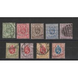 ORANGE  1903 EDWARD VII  DEFINITIVA 9 V USATI YVERT N 38-46 MF18303