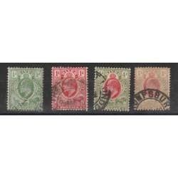 ORANGE  1905  EDWARD VII  FIL CA MULTIPLE  4 V USATI YVERT N 47-50 MF18293