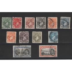 NIGERIA 1936-51 EFFIGE GIORGIO VI DEFINITIVA 12 VALORI USATI MF18316