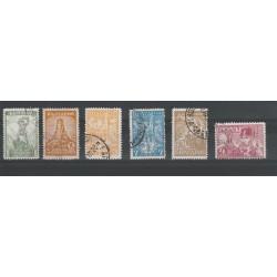 1934 BULGARIA BATTAGLIA DI SHIPKA NUOVI COLORI  6 V USATI UNIF N 266-71 MF18356