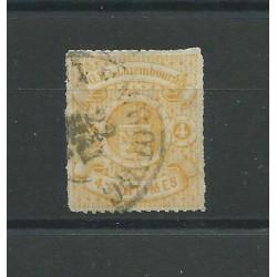 1865-75 LUSSEMBURGO STEMMA 4 C OCRA PERFORAZIONE TRATTINI USATO CERT CHIAVARELLO MF24176