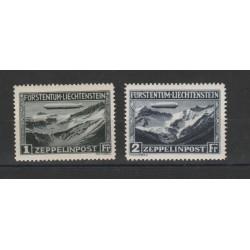 1931 LIECHTENSTEIN DIRIGIBILE ZEPPELIN 2 VAL MLH MF18330