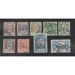 1924-27  LIECHTENSTEIN SOGGETTI DIVERSI 9 VAL USATI MF18338