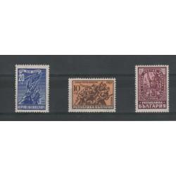 1946 BULGARIA LOTTA AL FASCISMO  3 VAL MNH  UNIF N 593-95 MF18397