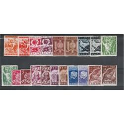 1938 BULGARIA PRODOTTI NAZIONALI  20 VAL MNH  UNIF N 320-339 MF18401