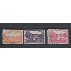 1925 BULGARIA SOPRATASSA LUOGHI VACANZA 3 VAL MNH UNIF N 5-7 MF18450