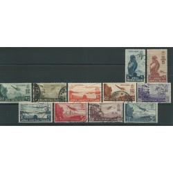 1938 AOI A.O.I. SERIE SOGGETTI VARI  POSTA AEREA 11 VAL USATI MF24225
