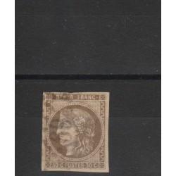1870-71 FRANCIA FRANCE GOVERNO PROVVISORIO  UNIF N 47 USATO  MF18456