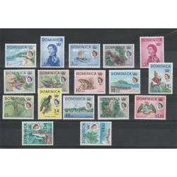 DOMINICA 1963-67 DEFINITIVA ELIZABETH II  17 V NUOVI MNH YV 159-75 MF18486