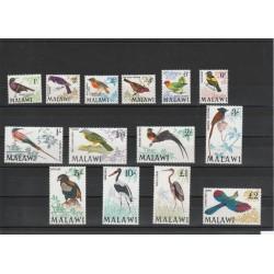 MALAWI 1968 SERIE DEFINITIVA UCCELLI BIRDS 14 V MNH YV 92-105 MF18485