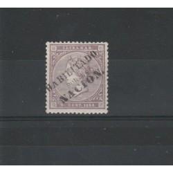 ANTILLE SPAGNOLE  1868 ISABELLA II  HABILITATO    YV 26A - 1V MLH MF18523