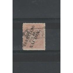 ANTILLE SPAGNOLE 1869 ISABELLA II HABILITATO   YV 31 A - 1 V  USATO  MF18529