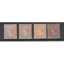 ANTILLE SPAGNOLE  1869 ISABELLA II  YV 30-33-  4 V MLH MF18574