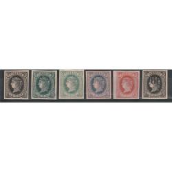 ANTILLE SPAGNOLE  1864-66  ISABELLA II  -  6 VAL MLH  ND MF18572