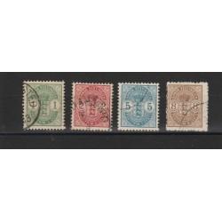 ANTILLE DANESI 1900-03  STEMMI - 4 VAL USATI   MF18588