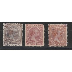 FERNANDO POO 1894-96 ALFONSO XIII 3 VAL USATI MF18582