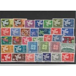 EUROPA CEPT ANNATA  1961 - 34 VAL NUOVI  MNH MF 18614