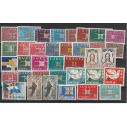 EUROPA CEPT ANNATA  1963 - 36 VAL NUOVI MNH MF 18610