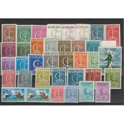 EUROPA CEPT ANNATA  1966 - 37 VAL MNH MF 61218