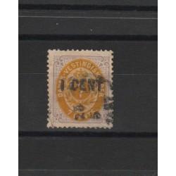 ANTILLE DANESI 1887 SOPRASTAMPATO  -  1 VAL USATO  MF18605