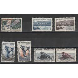 1955 - 56  TAAF TER ANTARTICO FRANCESE  7 VAL MNH MF18631