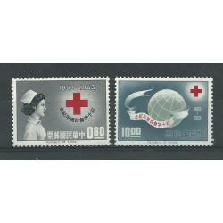 1963 REP CHINA TAIWAN FORMOSE CENTENARIO DELLA CROCE ROSSA 2 V MNH MF24265