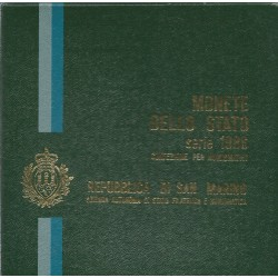 1986 SAN MARINO DIVISIONALE EVOLUZIONE TECNOLOGICA 9 MONETE FDC MF24300