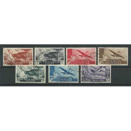 1933 EMISSIONI GENERALI PA SERIE CINQUANTENARIO ERITREO 7 VAL USATI MF24329