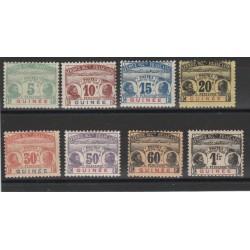 GUINEA GUINEE  1906 SEGNATASSE  DONNE INDIGENE 8 VAL MLH MF18816