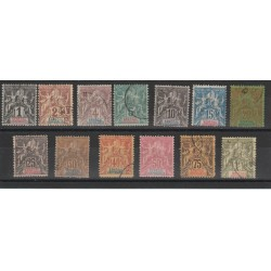 SENEGAL  1892-3  ALLEGORIA SOPRASTAMPATA 13  VAL USATI MF18833
