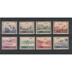 1941 SVIZZERA  VEDUTE DIVERSE 8  VALORI NUOVI MLH MF16350