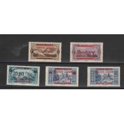 1928  LIBANO  SOPRASTAMPATI IN ROSSO  5 VAL   MLH MF18876