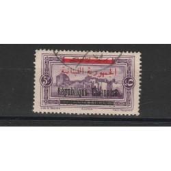 1928  LIBANO  SOPRASTAMPA IN NERO  1  VAL  USATO MF18875