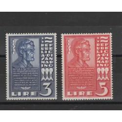 1937 SAN MARINO LINCON 2 VAL MNH MF18963