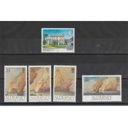 1992 ALDERNEY ANNATA COMPLETA 5 VALORI - NUOVI  MF19106