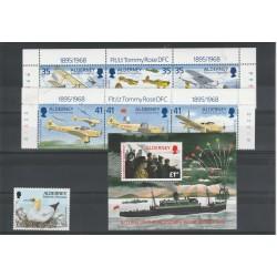 1995 ALDERNEY ANNATA COMPLETA  7  VAL 1 BF  -  NUOVI MNH MF19198